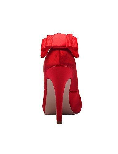 ShangYi Damen - Hochzeitsschuhe - Zehenfrei / Plateau - & Sandalen - Hochzeit / Kleid / Party & - Festivität - Rot / Weiß / Champagner  4in ac3777