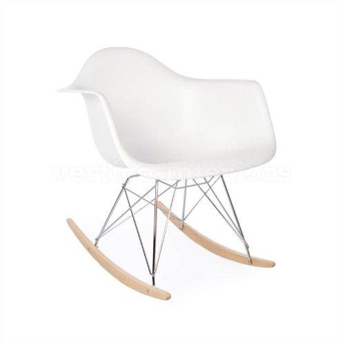 High Quality Eames Style RAR Rocking Arm Lounge Chair - White