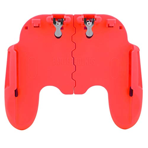 SUJING Game Controller Hand-Grip Mobile Gamepad Controller Trigger Fire Button Shooter for iOS Android Phone for Survival Rules/Survivor Royale (Red) (Download 3 Red Hat)