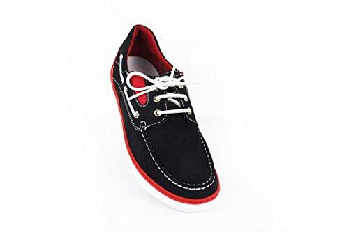 Chaussures Zerimar Grande pour Bleu en rouge7 Taille Bateau Cuir Homme Marine HwxaRqOd1w