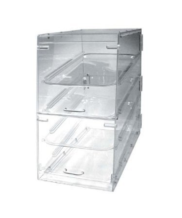 Winco ADC-4 4-Tier Pastry Display Case, Acrylic Display Cabinet 4 Tier