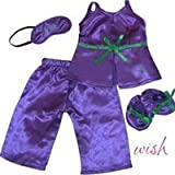 Fits American Girl 18″ Purple Pajamas, Slippers, Eye Mask – 18 Inch Doll Clothes/clothing, Baby & Kids Zone