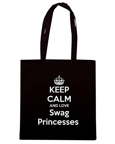 LOVE SWAG Shopper KEEP CALM TKC2455 Borsa PRINCESSES AND Nera wgY066Ox