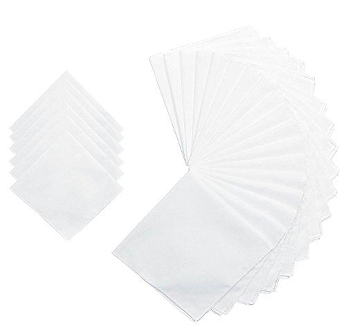 Personalized Hankies - White Cotton Handkerchiefs Women Solid Wedding Hankies -Square 28cm