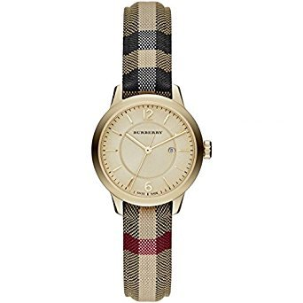Burberry-Gold-Dial-Stainless-Steel-Leather-Textile-Quartz-Ladies-Watch-BU10104