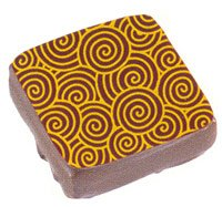 Chocolate Transfer Sheet: Gold Spirals, 17 Sheets