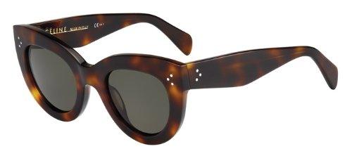 9960ddb5e6a48 Céline Sunglasses - 41050 S   Frame  Havana Lens  Green-41050S005L ...
