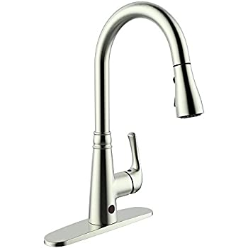 moen touchless kitchen faucet moen arbor motionsense touchless one handle high arc 20874