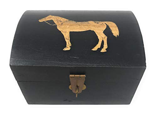 Madison Bay Co Horse Treasure Chest Keepsake Box, 3.25 Inches Wide X 4.75 Inches Long ()
