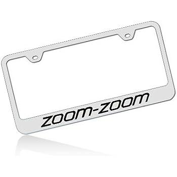 Amazon.com: Mazda Zoom Zoom Stainless Chrome License Plate Frame ...