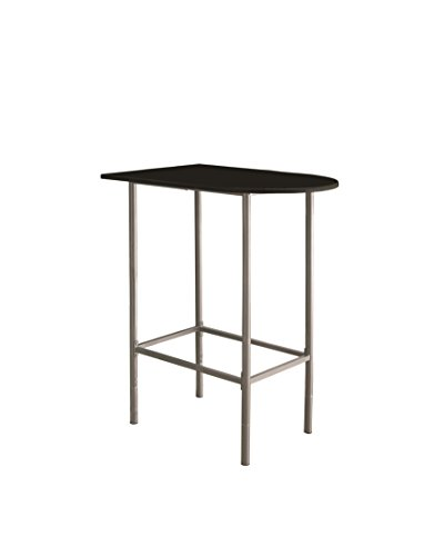Monarch Specialties Space Saver Bar Table, 24-Inch by 36-Inch, Black/Silver Metal (Specialty Bar Stools Set)