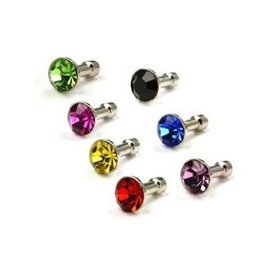3.5 Mm Diamond (Importer520 7in1 Combo Colorful Diamond Anti Dust 3.5mm Earphone Jack Plug Stopper For Samsung Galaxy S3 S III, Galaxy Note, Galaxy S2 S II, Skyrocket, Galaxy Nexus and other Micro USB Devices - Bulk Packaging)