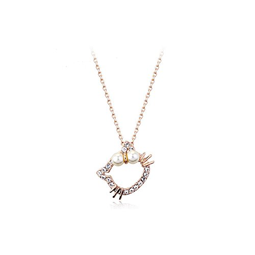 Mall of Style Hello Kitty Necklace Pendant for Women/Girls (Cuddly)