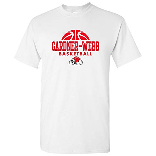AS08 - Gardner-Webb Bulldogs Basketball Hype T-Shirt - 2X-Large - White