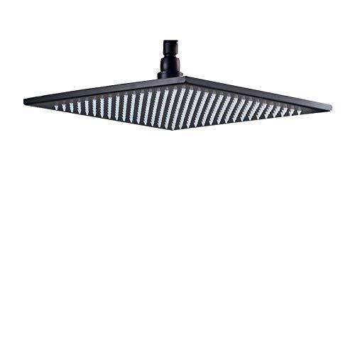 Bronze 12-inch Adjustable Fixed Rainfall Shower Head Top Spray(Black) ()