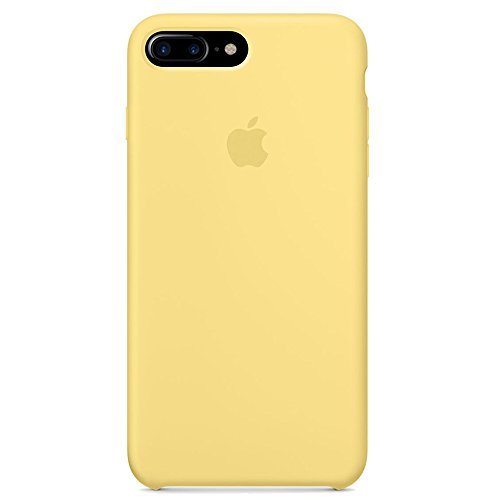Opshell Soft Silicone Case Cover for Apple iPhone 8 Plus (5.5inch) Boxed- Retail Packaging (Yellow)