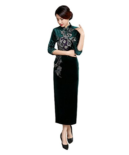 mujer vestido patr largo chino Acvip Cheongsam Qipao v8gwdqq