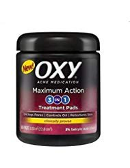 OXY Maximum Action 3-In-1 Treatment Pads 90 ea (Pack of 3)