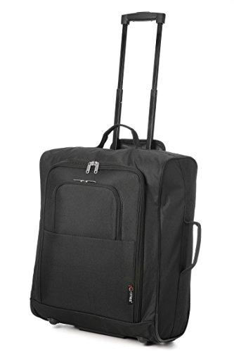 Easyjet e British Airways 56x45x25cm bagaglio a mano a mano massima approvato Trolley, enorme 60L Capacità, (nero)