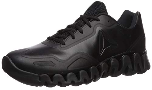 Reebok Men's Zig Pulse Running Shoe, Black/Matte, 6.5 M US