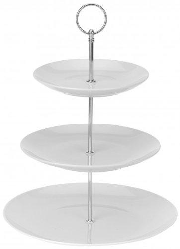 3-stöckige Etagere - Servierständer - Porzellan - Gebäckschale - Servierplatte - Servierteller - Obstteller - Pralinenteller - Keksteller