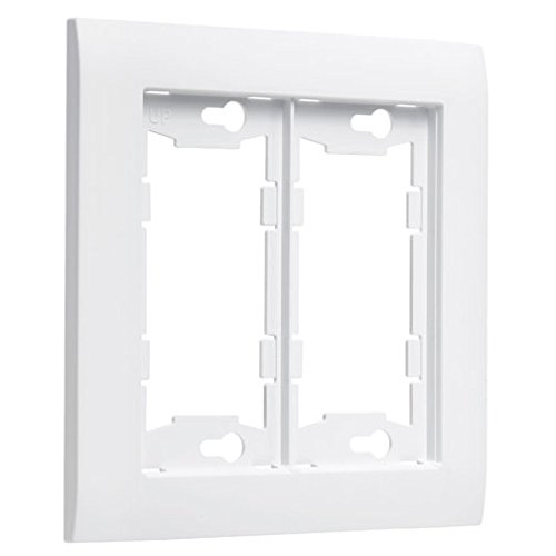 TayMac A2000W Allure Nonmetallic Wallplate Frame with 2-Gang, White