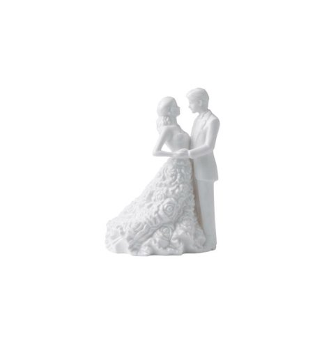 Modern Love Bride and Groom Cake Topper by Waterford