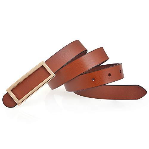 Women Genuine Leather Belt Waist Skinny Dress Belt for Jeans Pants 0.93