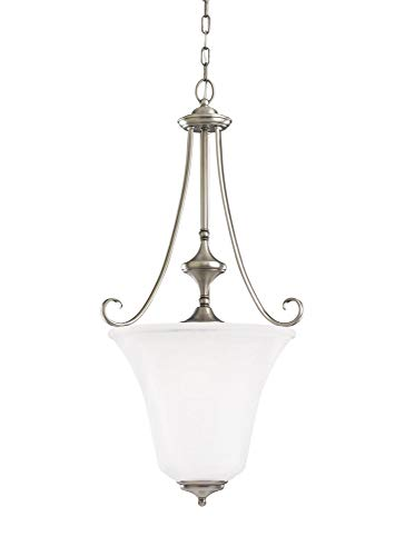 Sea Gull Lighting 51380EN3-965 Parkview Pendant, 3-Light LED 28.5 Total Watts, Antique Brushed Nickel (965 Parkview Light 3)