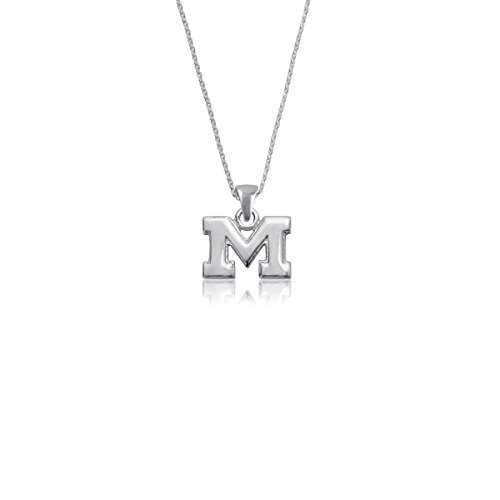 (University of Michigan Wolverines Sterling Silver Jewelry by Dayna Designs (Pendant Necklace) )