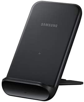 Samsung Electronics Wireless Charger Convertible Qi Certified (Pad/Stand), for Galaxy Buds, Galaxy Phones, and Apple iPhone Devices - US Version - Black (US Version)