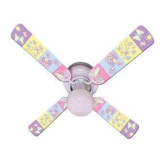 """Ceiling Fan Designers Ceiling Fan, Baby Nursery Happy Wings, 42"""" from Ceiling Fan Designers"""