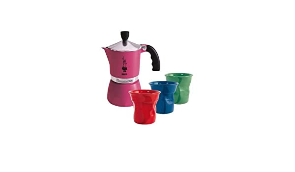 Bialetti 0004900 - Cafetera Italiana (3 Tazas), Color Rosa: Amazon ...