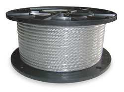 Dayton 2TAA3 Cable, 3/32 In, L100Ft, WLL184Lb, 7x7, Steel