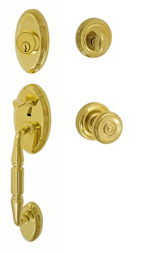 Fusion Hardware H-38-S3-0-PVD Cambridge Weston Handleset with Two-Piece Interior, Brass