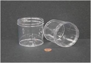"""Jar, Wide Mouth, 180mL (6oz), PS, 70mm Opening, 2 7/16 x 2 5/8"""" (Screw Cap Packaged Separat"""