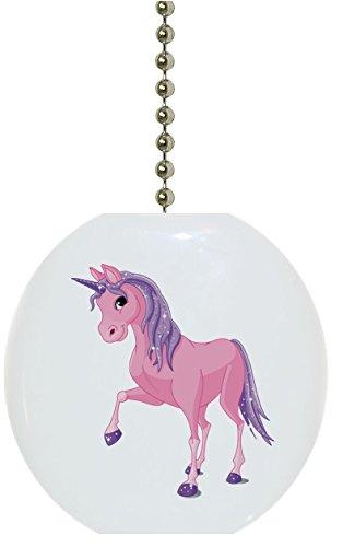 - Pink & Purple Unicorn Solid Ceramic Fan Pull
