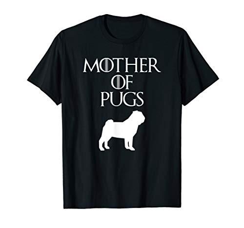 Cute & Unique White Mother of Pugs T-shirt E010732