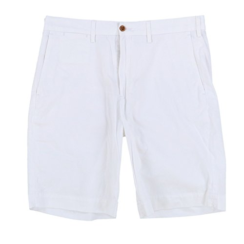 (Polo Ralph Lauren Mens Stretch Classic Fit Chino Shorts (34, White))