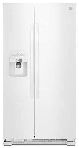 Price comparison product image Kenmore 50042 25 cu. ft. Side-by-Side Refrigerator with Ice Maker with Window in White,  includes delivery and hookup
