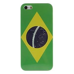 Caso duro del patr¨®n de la bandera brasile?a para el iphone 5/5s