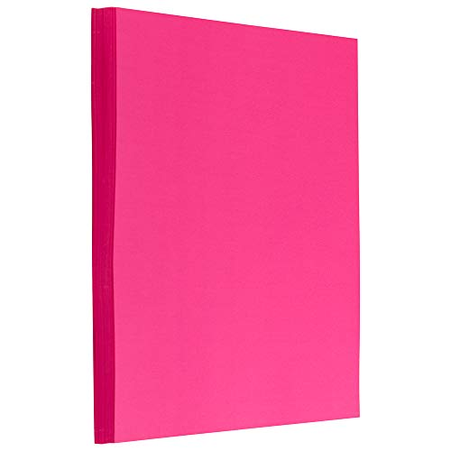 JAM PAPER Colored 24lb Paper - 8.5 x 11 - Ultra Fuchsia Pink - 100 Sheets/Pack