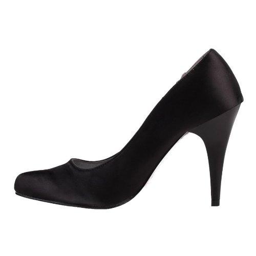 Classy black high heel court shoes (6541-1) Black W05d9NnPB