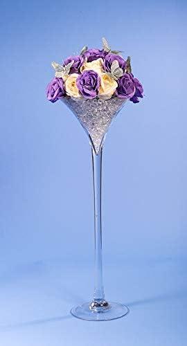 Vase en forme de coupe /à martini Hauteur/: 60/cm Pour d/écoration de table de mariage et d/écoration dint/érieur Homedelight