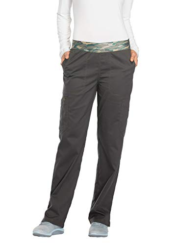 (Dickies Essence Women's DK140 Mid Rise Pull-on Pant- Pewter- Small)