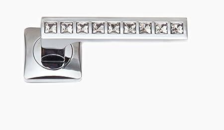 Pair Of Designer U0026quot;Firenzeu0026quot; CRYSTAL DOOR HANDLES, Lever Style,  Made From