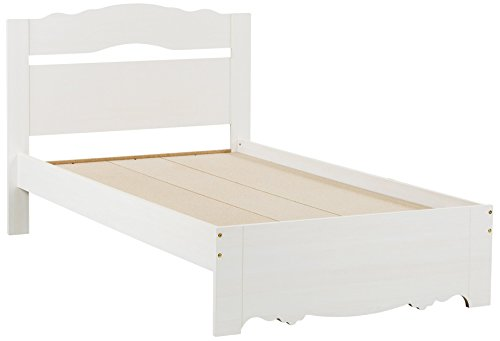 South Shore Lily Rose Bed & Headboard Set, Twin 3-inch, White Wash