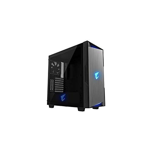GIGABYTE AORUS C300 GLASS GB-AC300G, Mid Tower, mini-ITX/m-ATX/ATX, Black | GB-AC300G