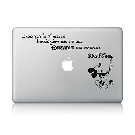 Disney Quote Macbook Laptop Decal Vinyl Sticker Apple Mac Air Pro Laptop Sticker (Disney Decals For Macbook Pro compare prices)