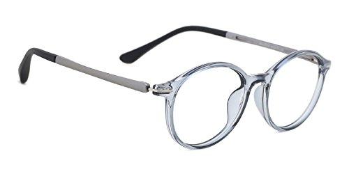TIJN Kids Classic Non-prescription Oval Eyeglasses Flex Arm - Eyeglass Arms
